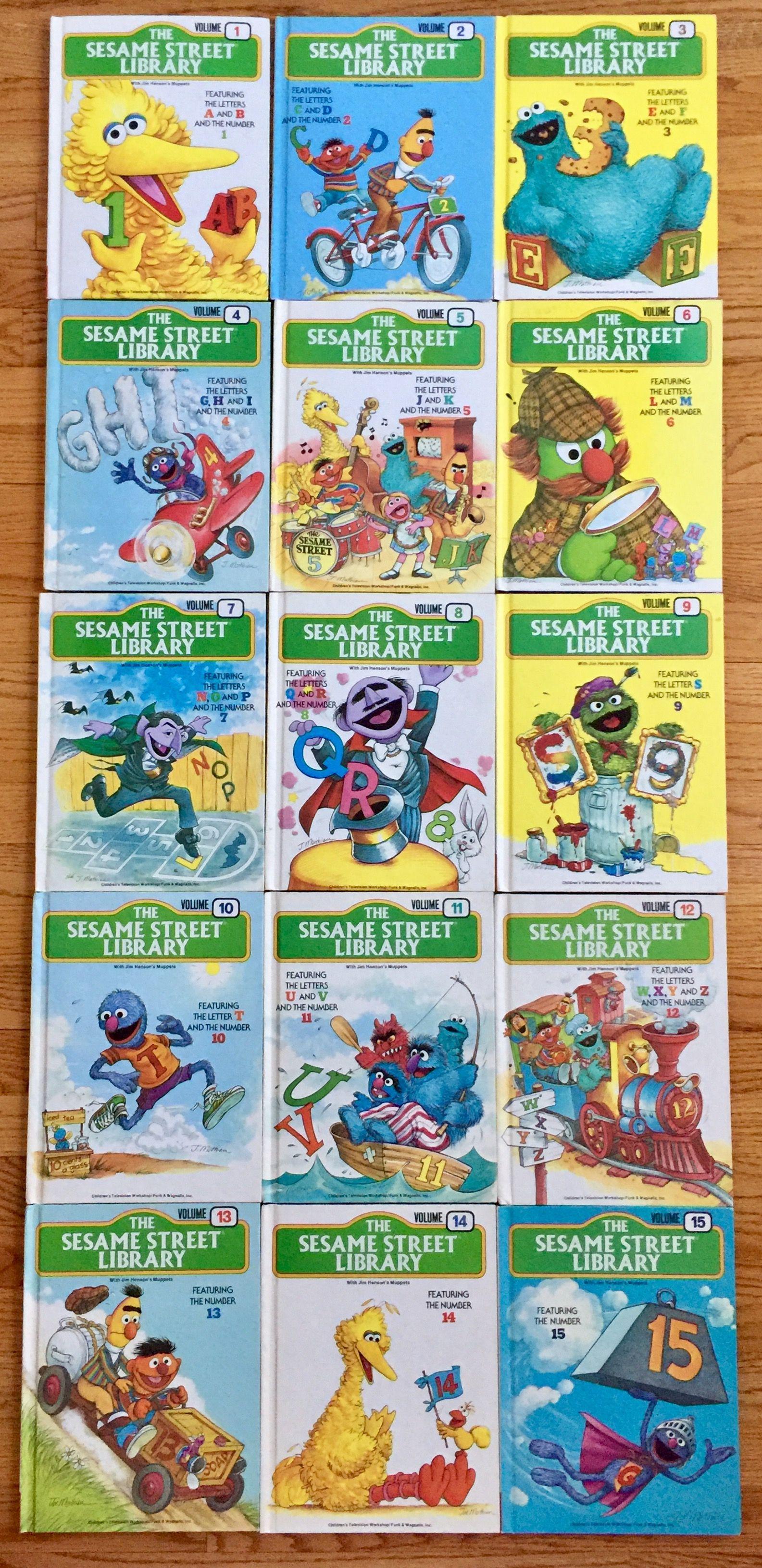 1978 sesame street library complete 15 volume set