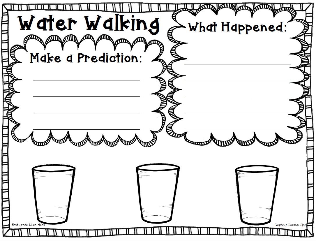 Water Walk Capillary Action Experiment Free Printable