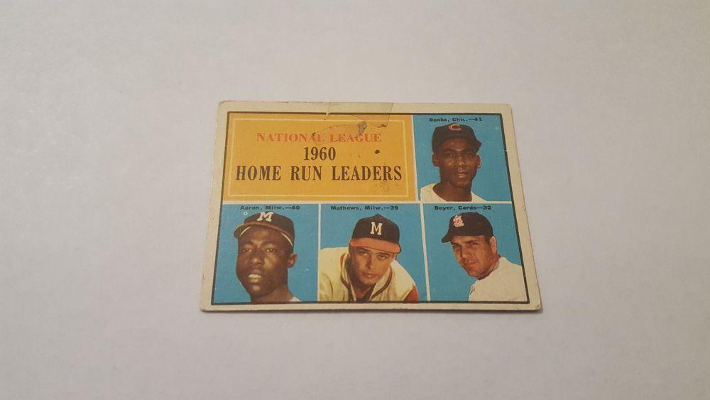 1961 topps chicago cubs ernie banks single baseball card