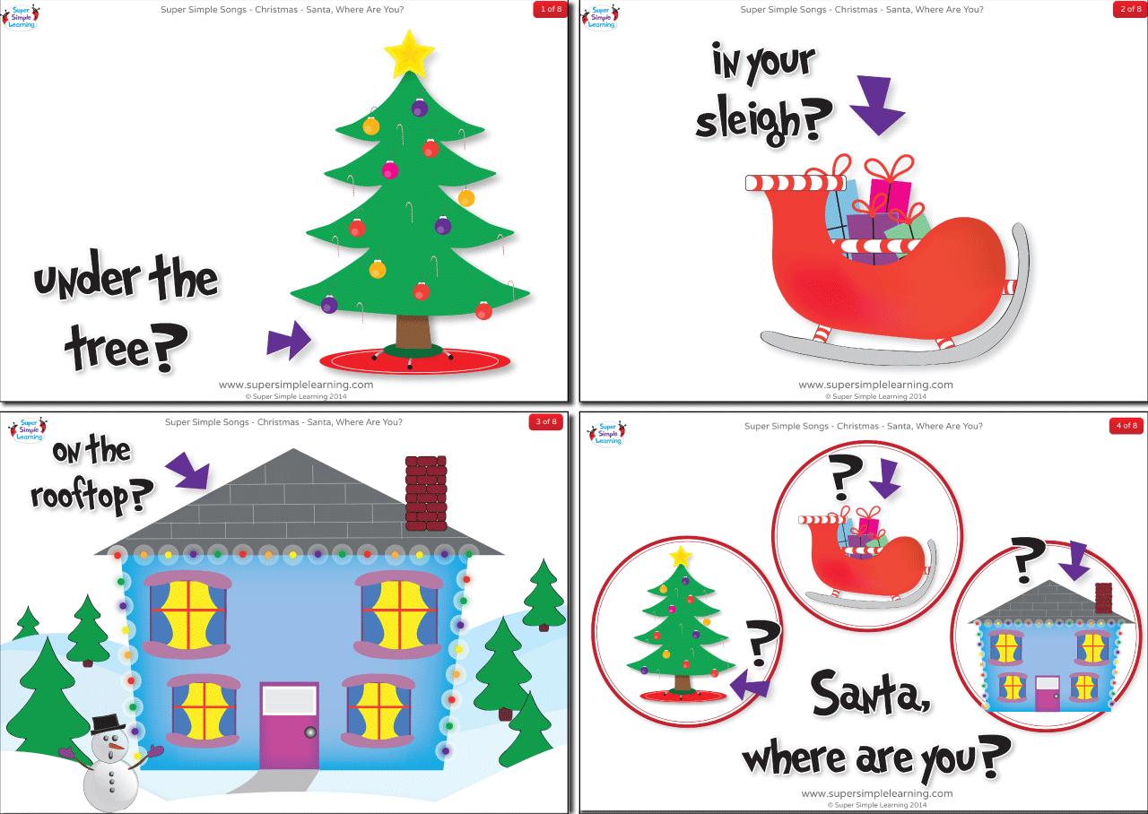 Santa Where Are You Flashcards