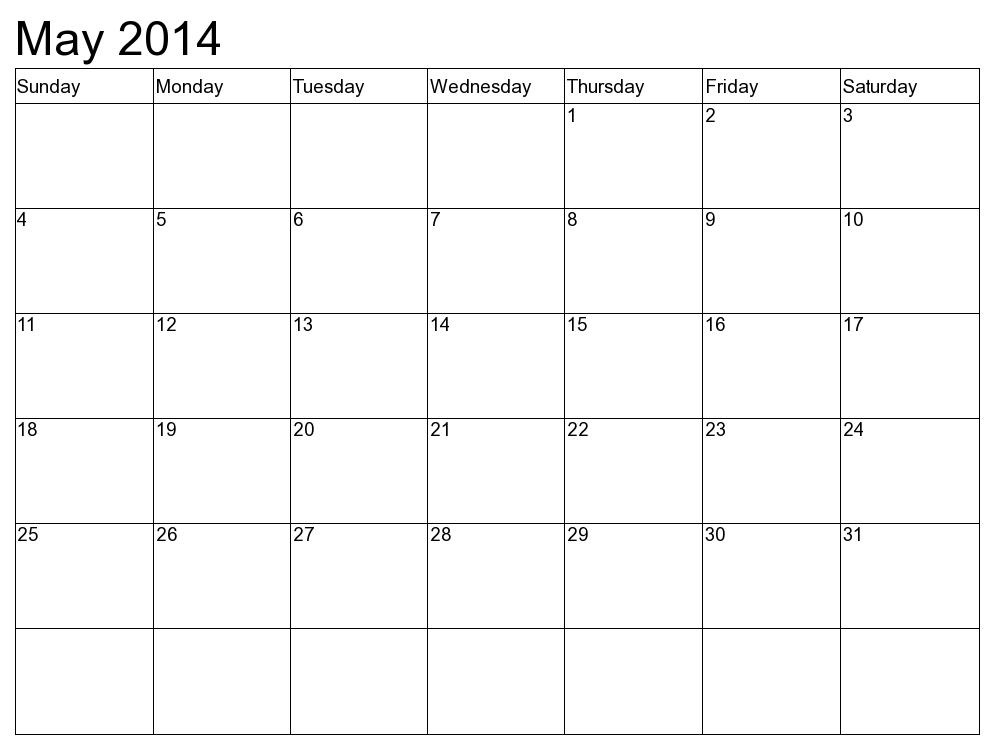 calendar may 2015 template