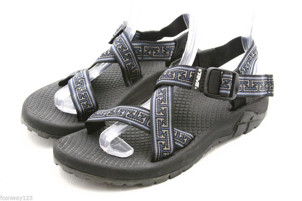 TEVA mens sandals Size 8 single strap blue waterproof river water sport  shoes