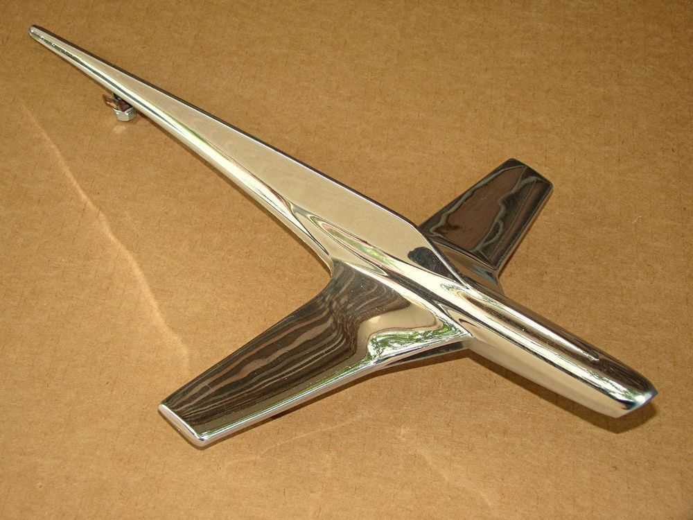 1955 Ford Fairlane Crown Victoria Y Block Hood Ornament Factory Original Great Hood Ornaments Ford Fairlane Fairlane