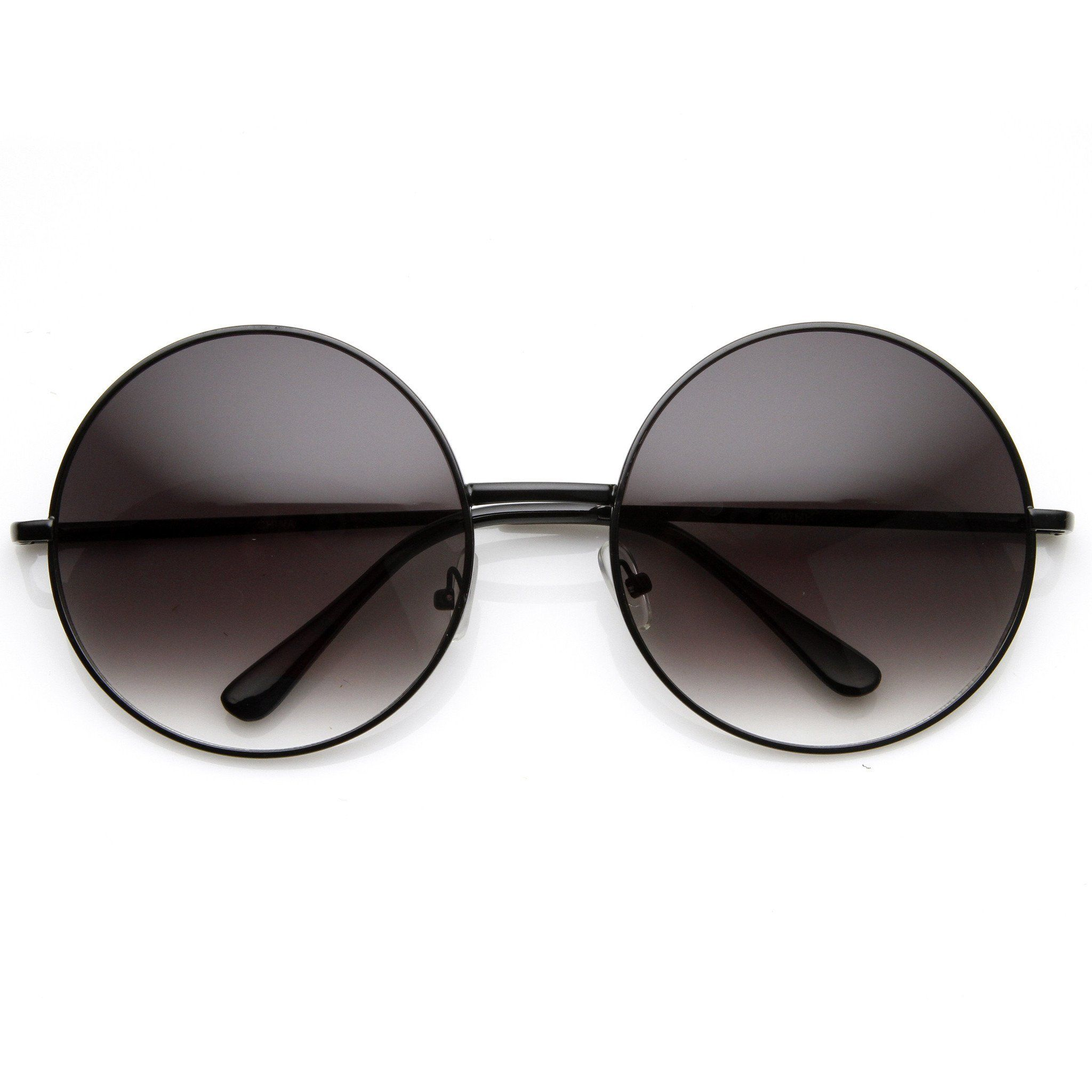 b32a8d9d103 Oversize Vintage Inspired Metal Round Circle Sunglasses 8370