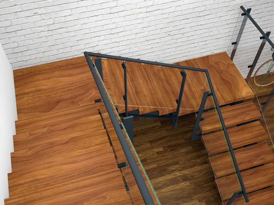 Tobu Double Spine Double Quarter Landing Stairs With