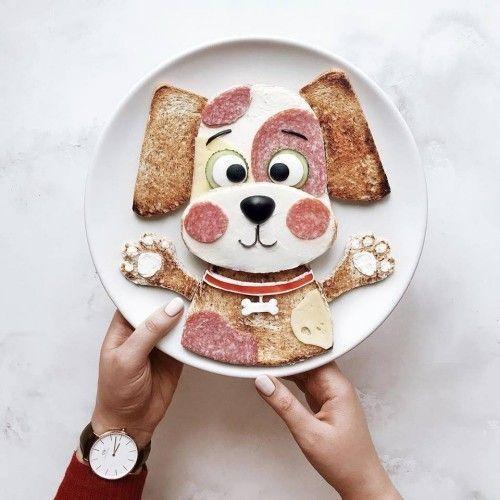 Bastelideen mit Lebensmitteln auf Tellern motivieren zum gesünderen Leben #animalcrafts