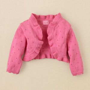 Too cute! Baby Shrug $16.95 at Children's Place.