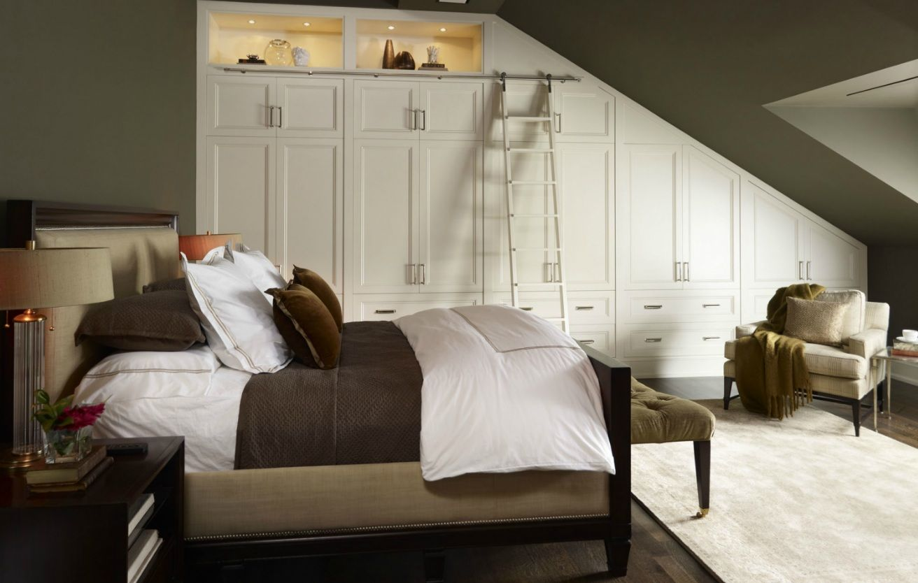 Loft bedroom wardrobe ideas  Sloping ceiling  Ideas for decorating our bedroom  Pinterest