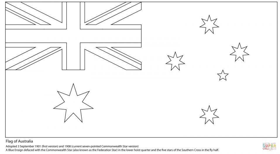 9 Australia Flag Coloring Page Australiaflagcoloring