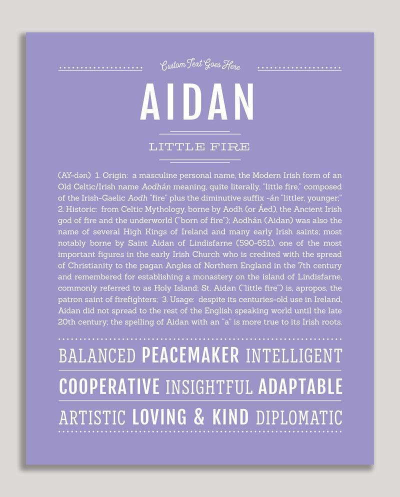 Aidan | Classic Name Print | Classic names, Names, Names ...