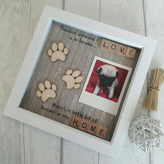 Crafts For Dog Lovers: Pet Memorial Frame, Dog Rememberence, Dog Frame, Doggy