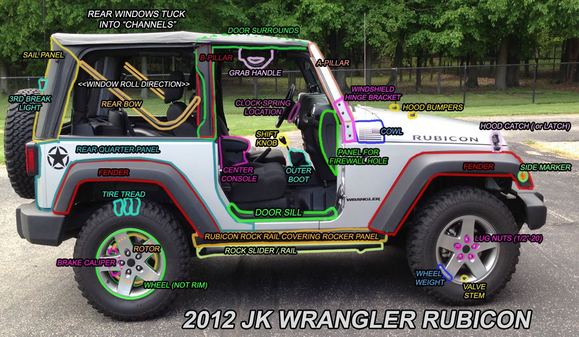 Jk Parts Labeled Jeep Wrangler Forum Jeep Wrangler Accessories Diy Jeep Wrangler Diy Jeep