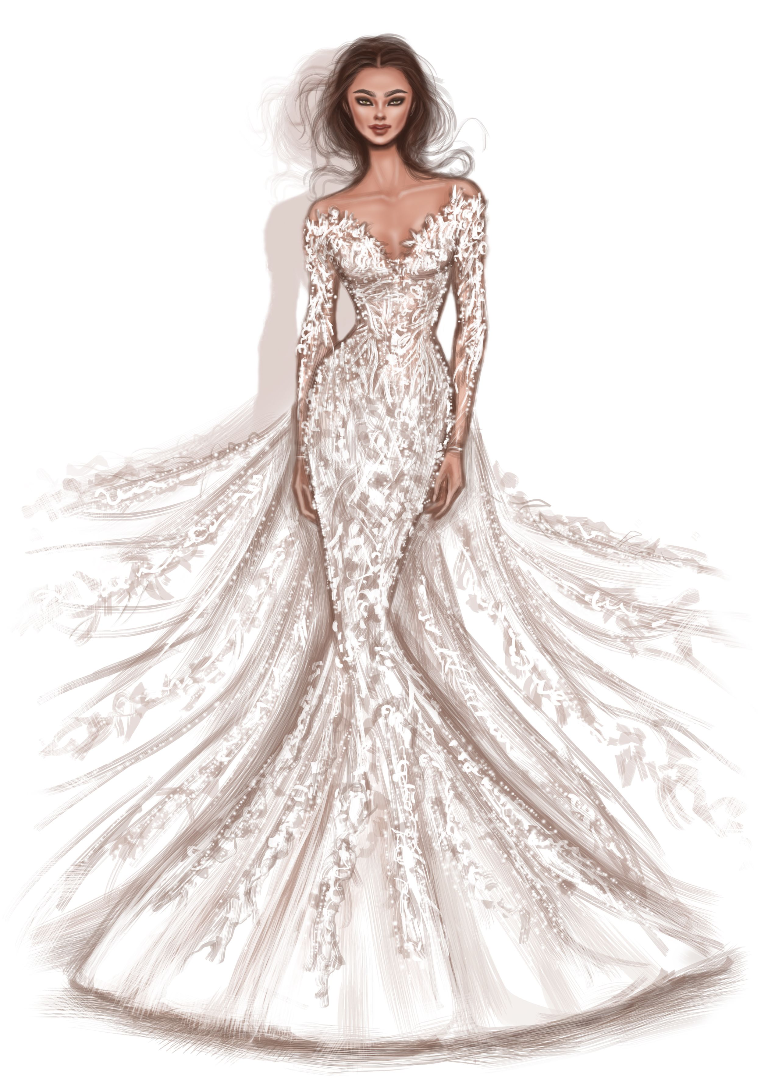 Beautiful Illustrations Of Rami Al Ali Bridal Collection Created By Shamekh Bluwi Fashion Illustration Dresses Fashion Drawing Dresses Fashion Designer Quotes