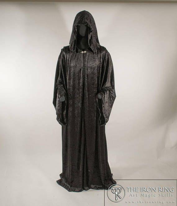 Velvet Wizard Robe Fantasy Medieval Renaissance Gothic Dark Etsy Wizard Robe Fashion Embroidered Mesh Dress
