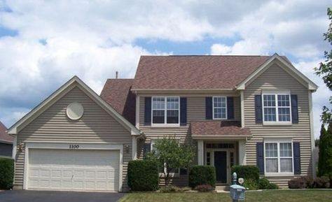 Image Result For Good Shutter Color Beige House With Light Brown Roof