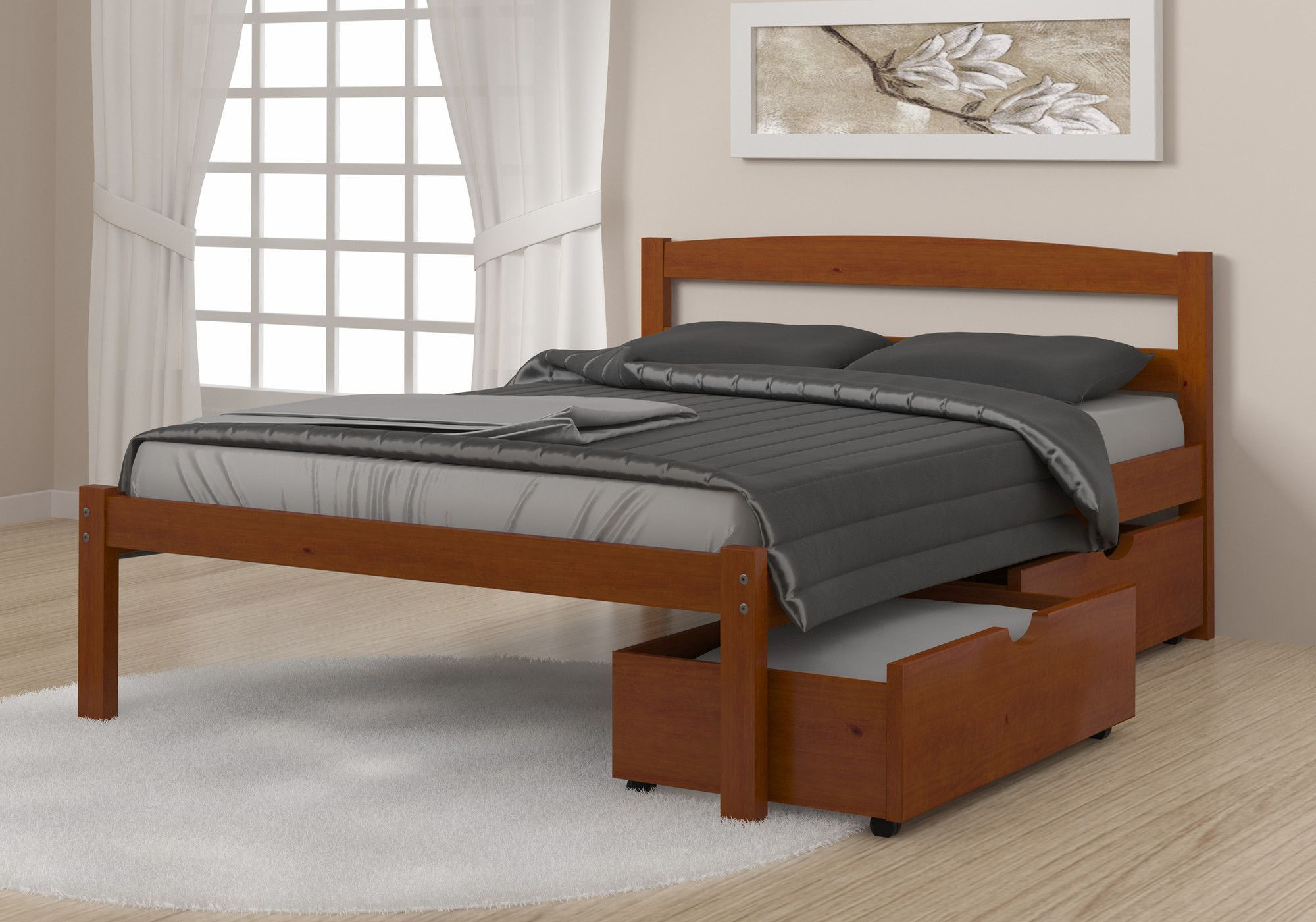 Alstons Manhattan Bedroom Furniture Econo Full Double Storage Platform Bed Bedding Storage Ideas