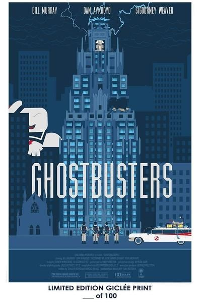 Giclee Art Prints Giclee Art Print Poster 18 X 12 Inch Ghostbusters Blue - Trouva