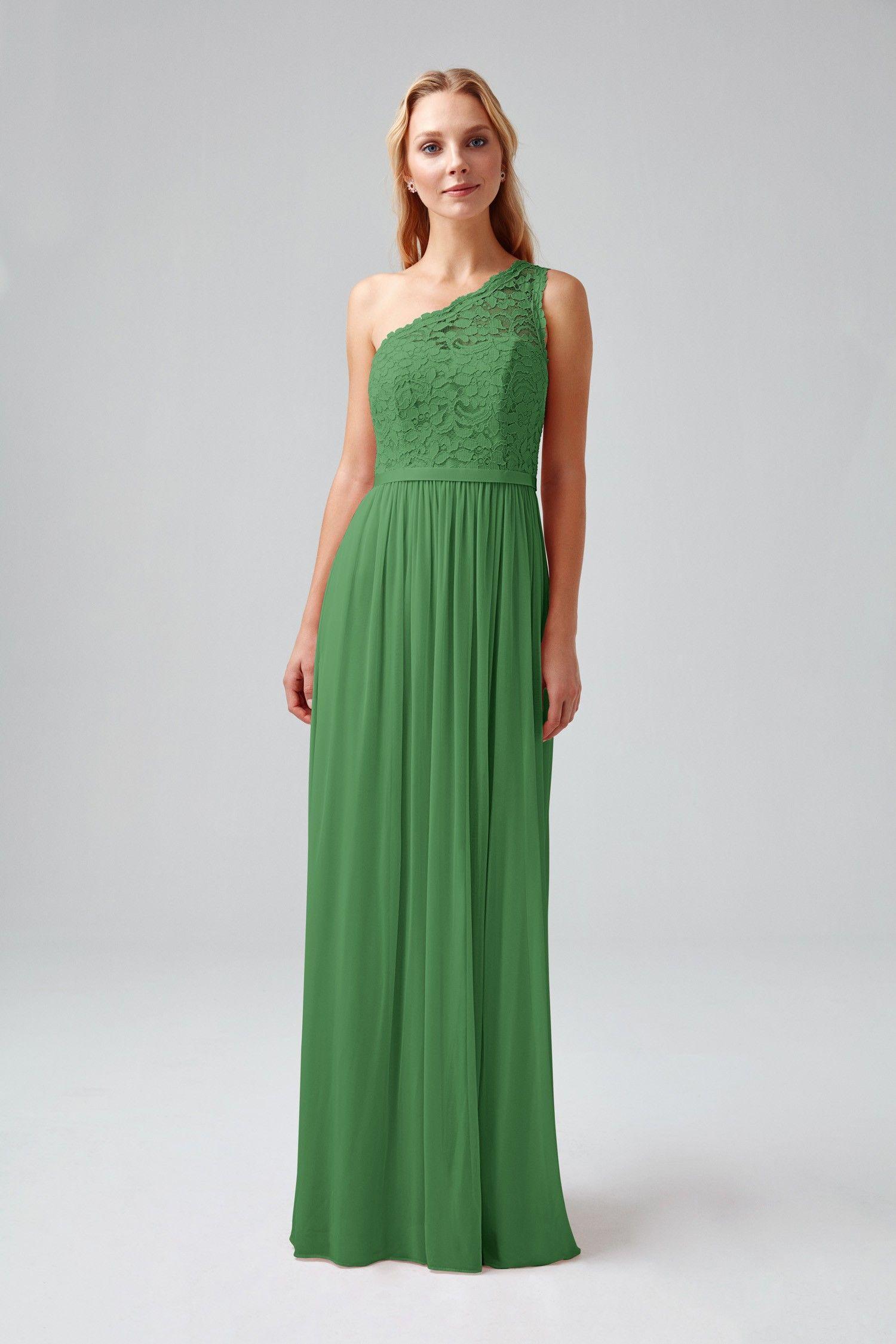 d424c7a8dd Long One Shoulder Lace Bridesmaid Dress-F17063
