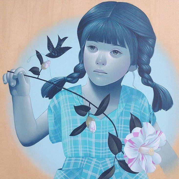 Regram @thinkspace_art New Painting From Sean Mahan