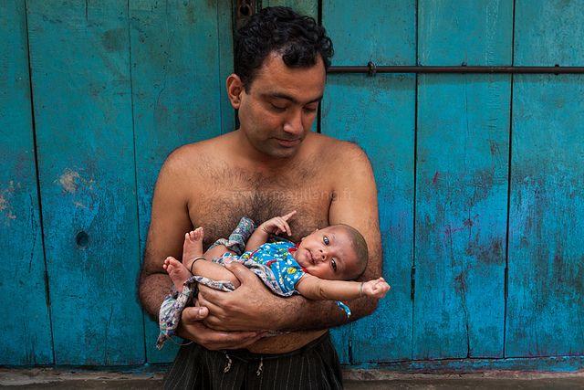 Fatherhood, Kolkata by Marji Lang, via Flickr