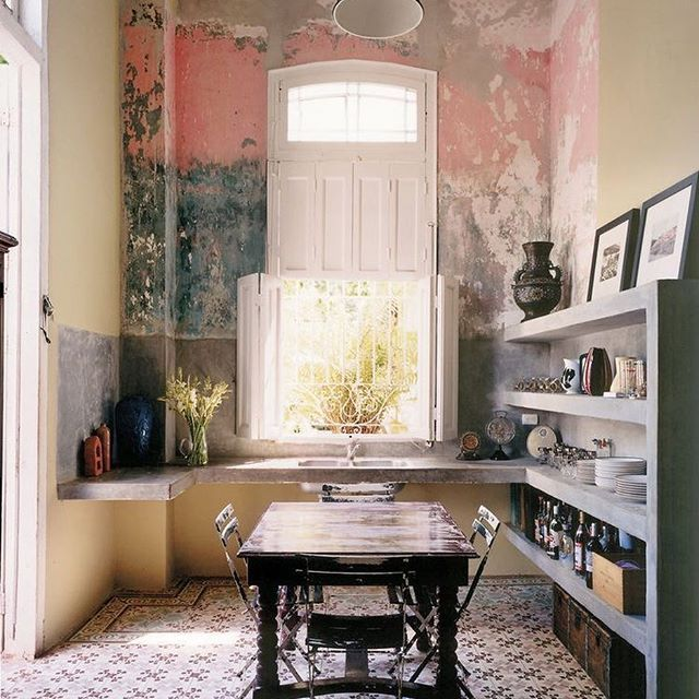 A kitchen with a bit of soul via Pinterest