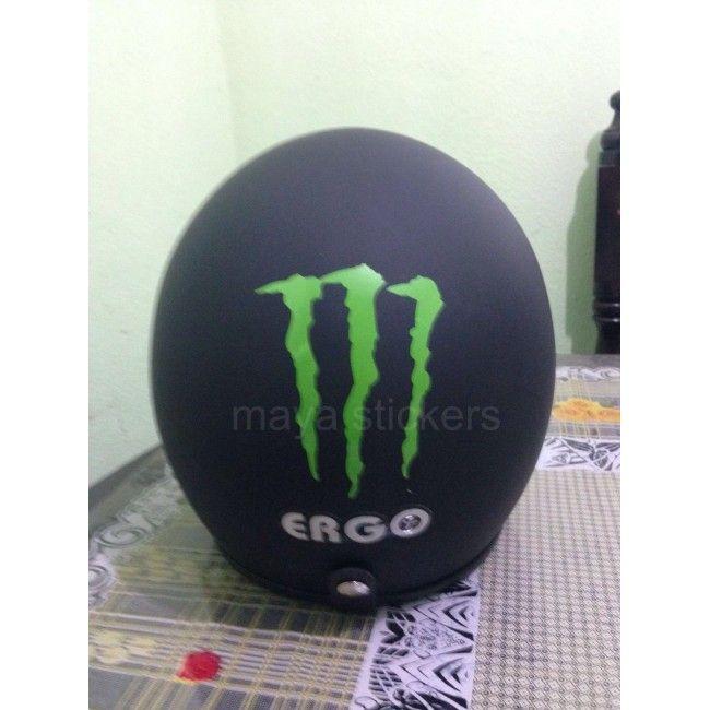 Monster Energy Decal Sticker On Helmet India Car And Bike - Custom vinyl stickers for helmets
