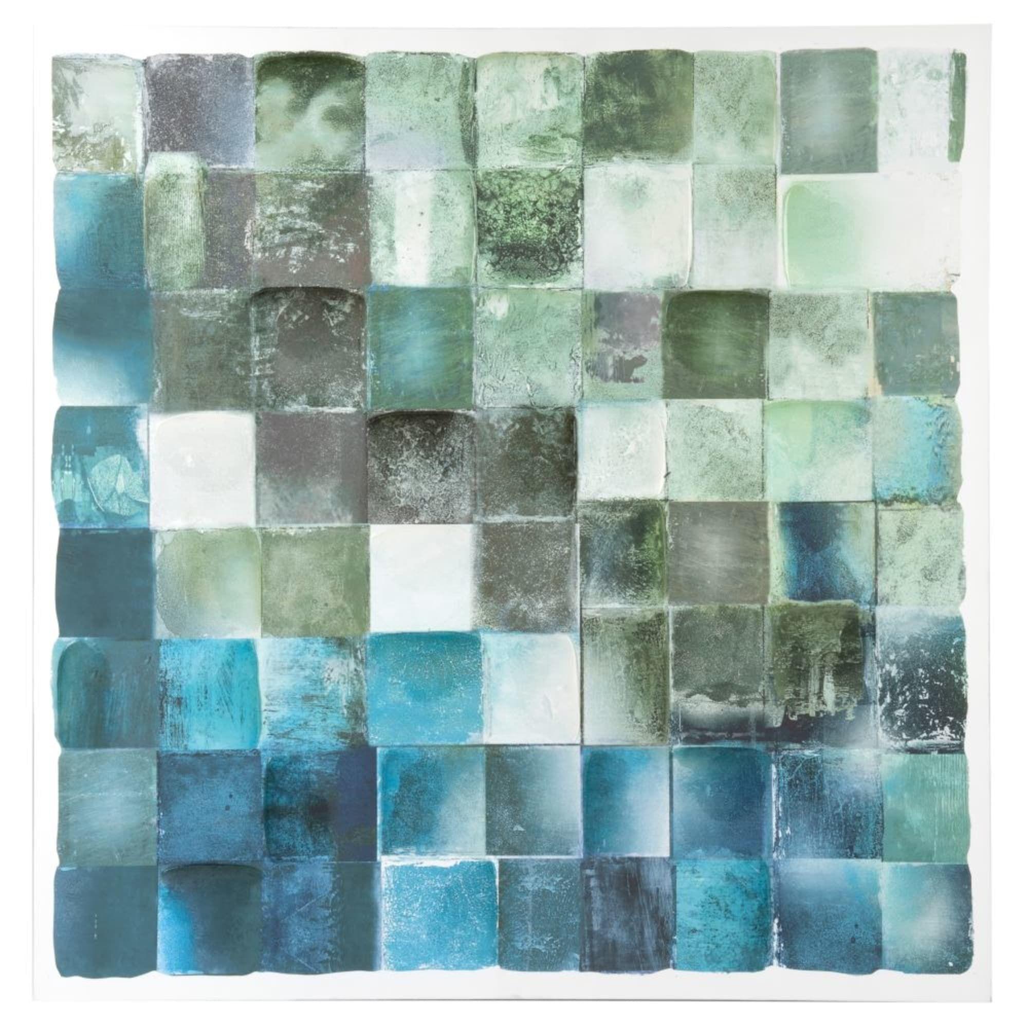 Bild Mit Mosaikmotiven In Grun Und Blau 80x80 En 2020 Avec Images