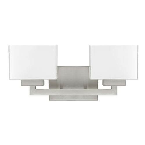 Photo of Capital Lighting Fixture Company 8342BN-155 Tahoe Two-Light Vanity in Brushed Nickel – Brushed, Transitional   Bellacor