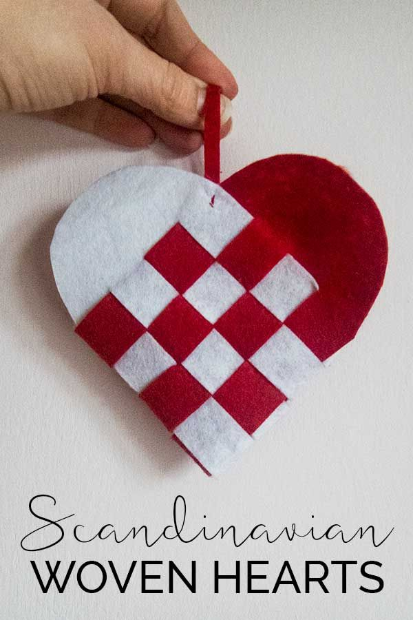 Diy Scandinavian Woven Heart Ornaments With Images Valentine