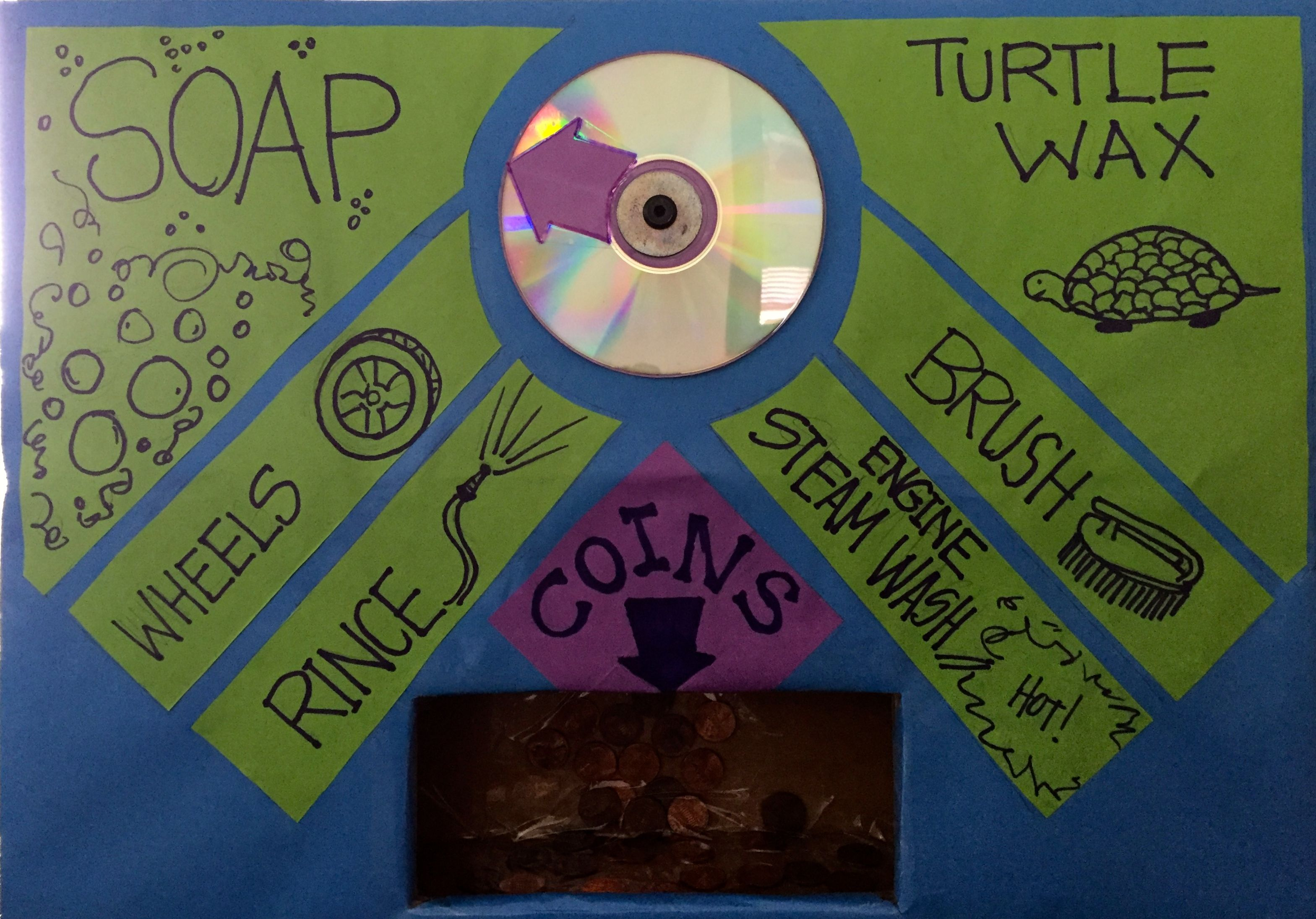 Coin car wash control panel dramatic play centers