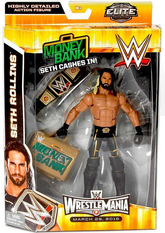 Seth Rollins-Elite series 25-WWE Mattel Wrestling Figure