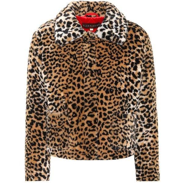 02816f4080f AlexaChung Leopard-Printed Faux Fur Coat ( 610) ❤ liked on Polyvore  featuring outerwear. Abrigo De LeopardoLeopardo MarrónEstampados ...