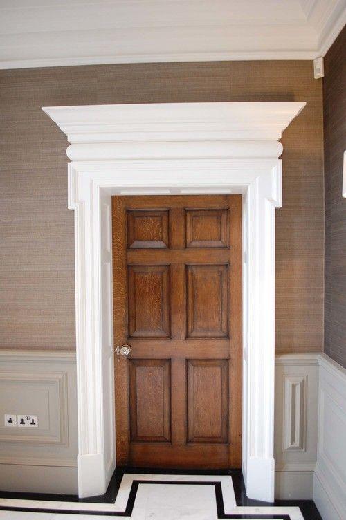 Six Panel Georgian Oak Door With Painted Surround