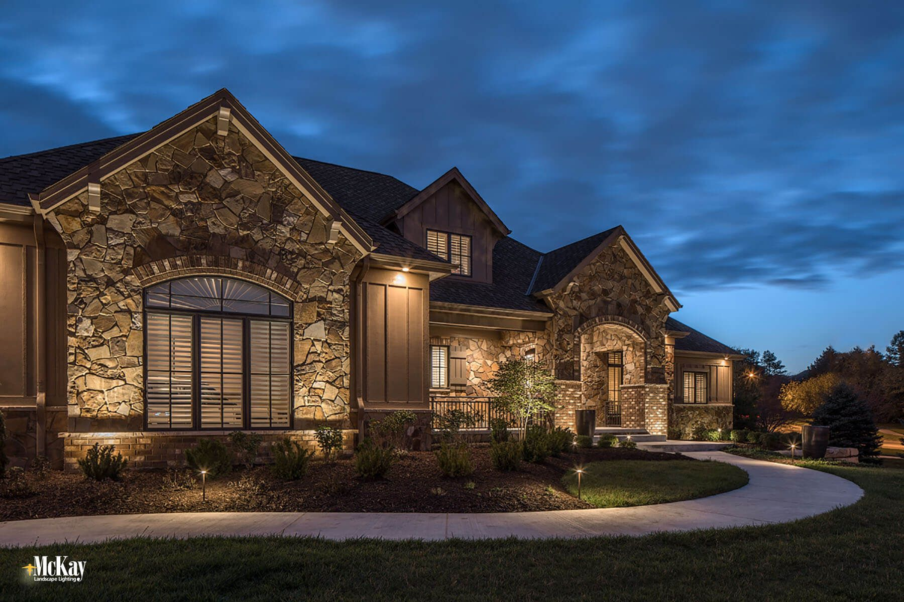 Project spotlight elegant outdoor security lighting design residential security lighting omaha nebraska learn more about this outdoor security lighting design by mckay mozeypictures