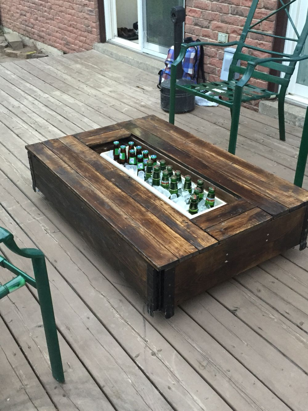 Part one of a outdoor sectional furniture in Pinterest