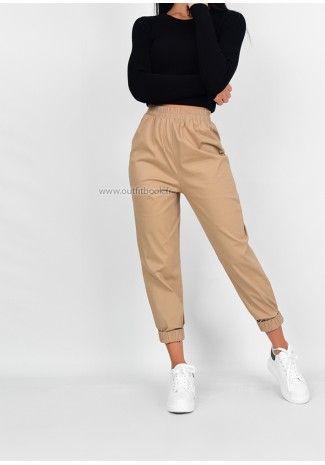 Pantalon De Jogging Beige Outfitbook Pantalones De Moda Moda De Ropa Pantalones De Moda Mujer