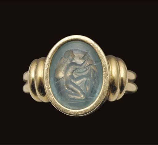 Ancient Roman aquamarine intaglio of a maenad, dated to the 1st century BCE  to the 1st century CE. Image f… | Ancient jewels, Ancient jewelry, Ancient  roman jewelry