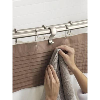 Great Idea To Add Some Hooks To Your Shower Curtain Rod Shower