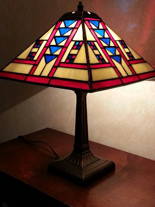 Stained Gl Frank Lloyd Wright Style Lamp