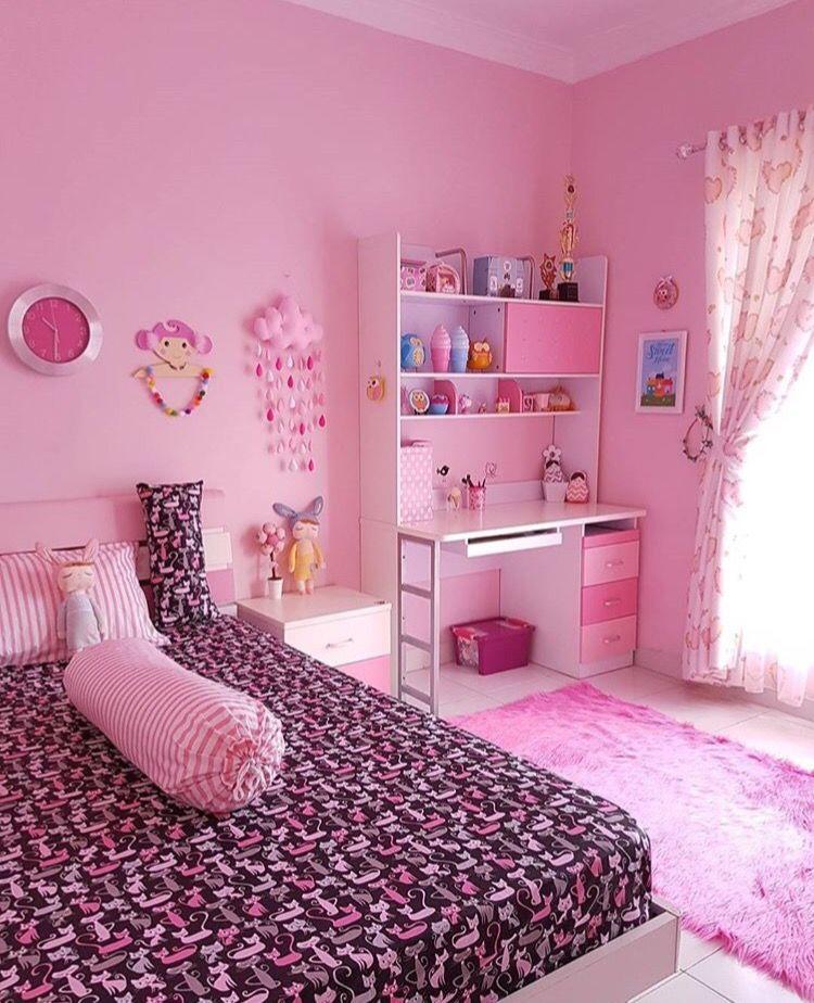 Cat Kamar Ungu Pink