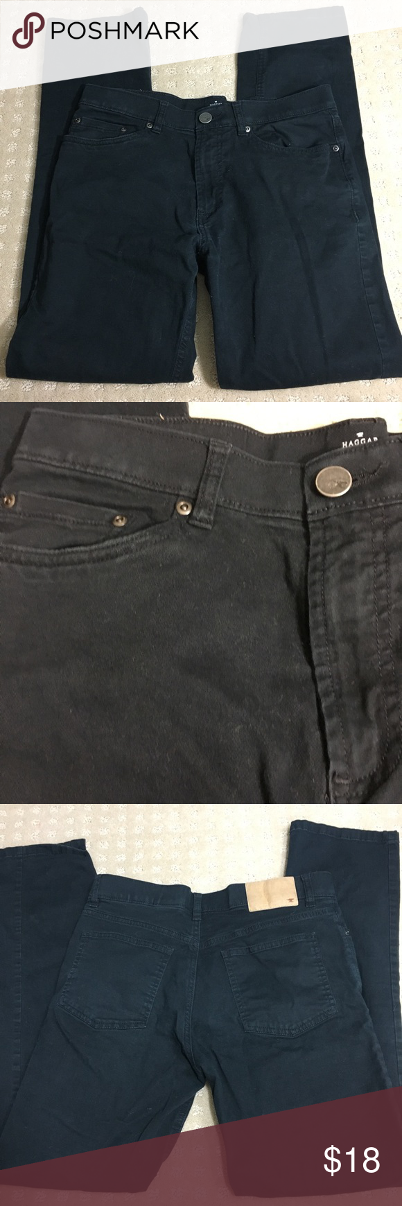 Haggar H26 Slim Black Jeans Black Jeans Black Chino Pants Chinos Style