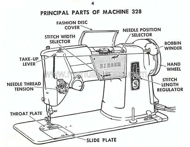 Singer 328 Sewing Machine Instruction Manual