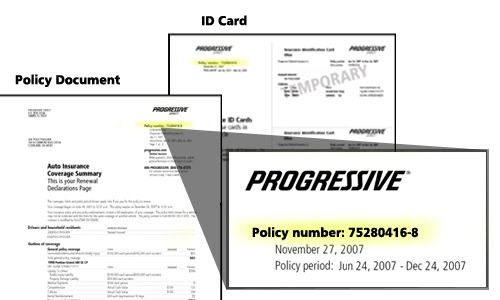 Find Your Policy Number With Images Progressive Insurance Photography Business Cards Template Card Template