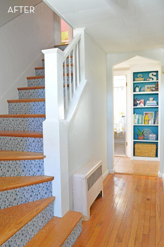 Best Fabric Covered Stairs Stair Remodel Stair Risers 400 x 300
