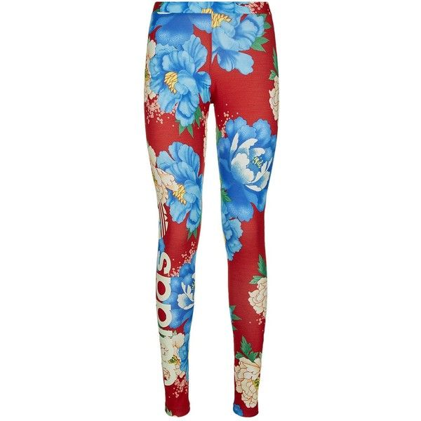 9a1307c7967 adidas Originals Chita Floral Print Linear Leggings ($32) ❤ liked on  Polyvore featuring pants, leggings, adidas originals, flower print pants,  adidas ...