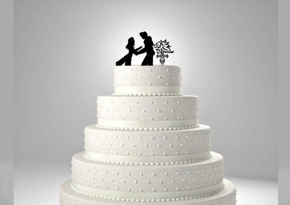 Squall and Rinoa Wedding Cake Topper