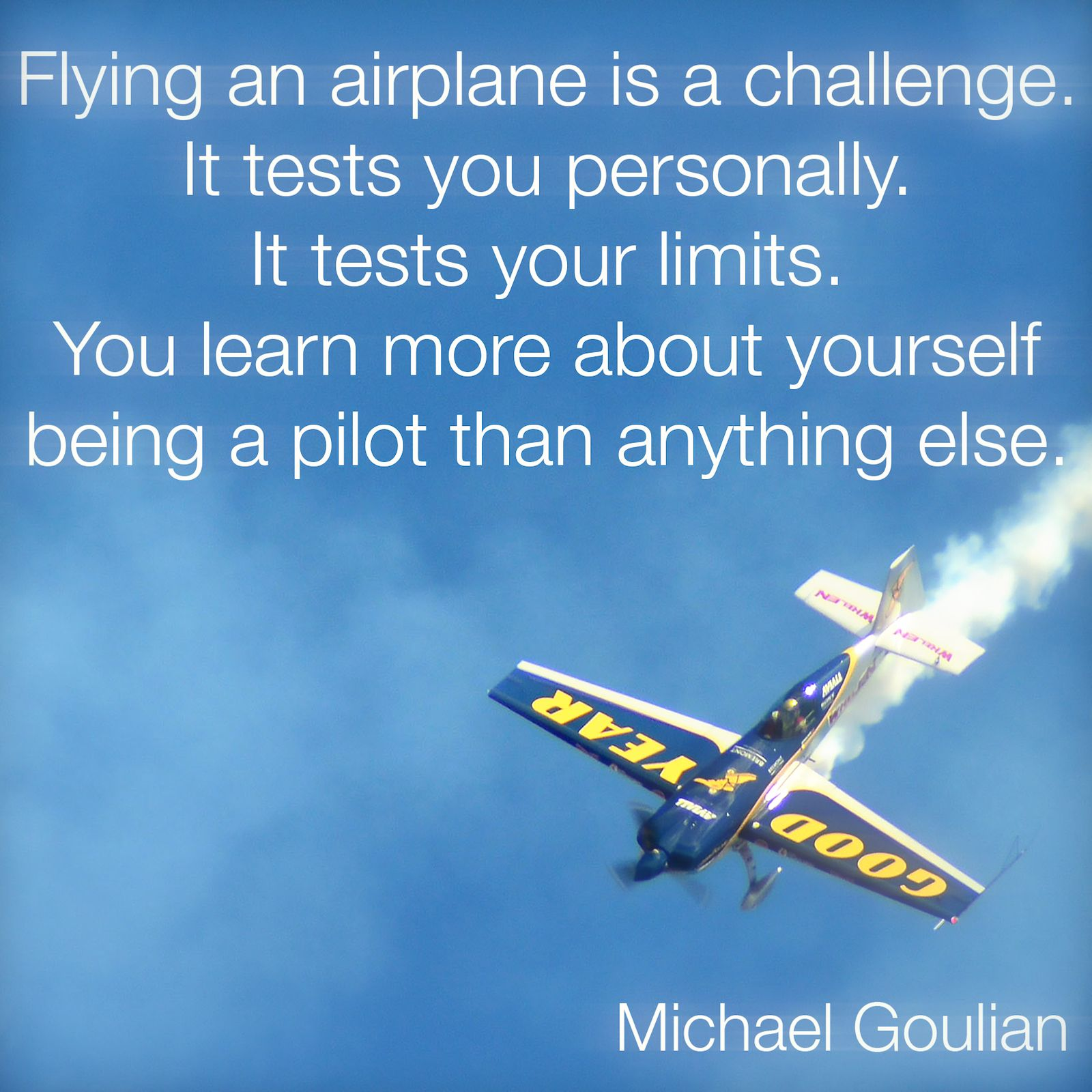 Michael Goulian On Flying
