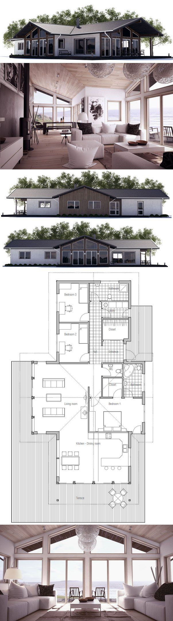 Modern House Ch85 Small House Plans House Plans House Layouts