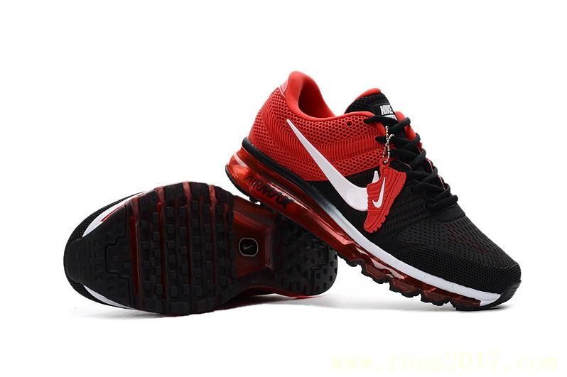 Nike Air Max 2017 Men Black Red White Shoes | Nike Air Max 2017 ...