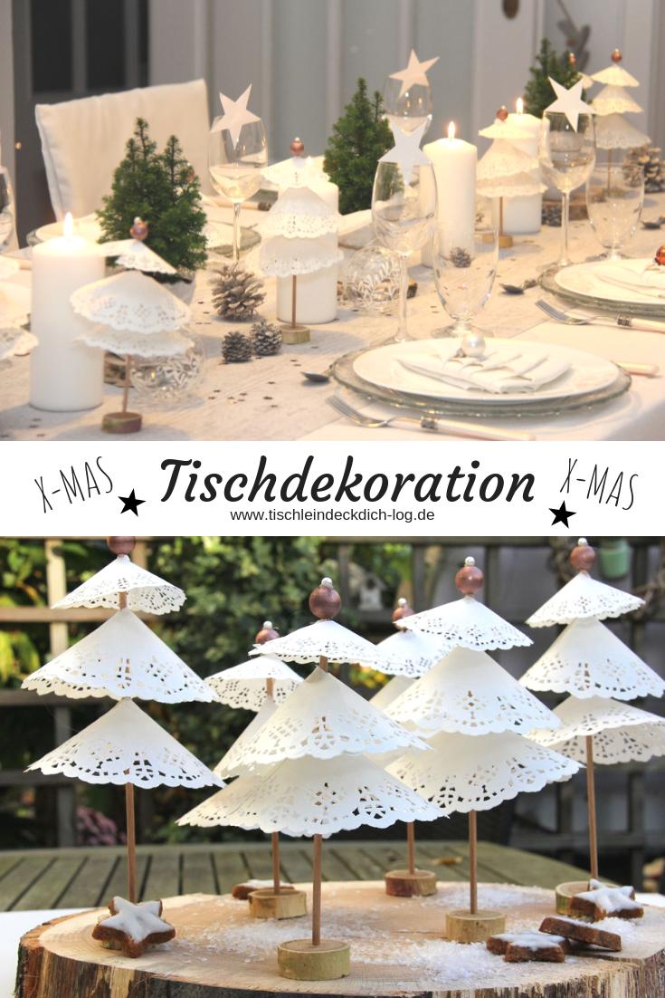 Tischdekoration für Weihnachten #weihnachtlichetischdekoration